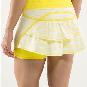 Lululemon Run Track Attack Skirt Spry Yellow